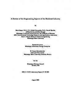 A Review of the Engineering Aspects of the Biodiesel Industry