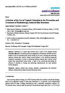 A Review of the Use of Topical Calendula in the Prevention and Treatment of Radiotherapy-Induced Skin Reactions