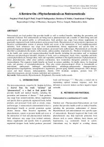 A Review On : Phytochemicals as Nutraceuticals