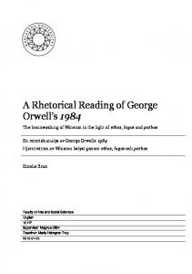 A Rhetorical Reading of George Orwell s 1984