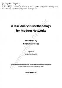A Risk Analysis Methodology for Modern Networks