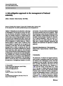 A risk-mitigation approach to the management of induced seismicity