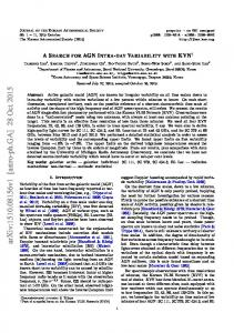 A SEARCH FOR AGN INTRA-DAY VARIABILITY WITH KVN