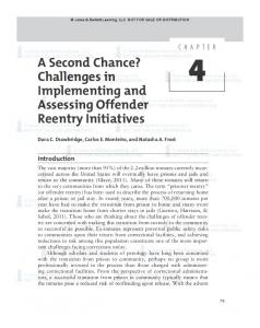 A Second Chance? Challenges in Implementing and Assessing Offender Reentry Initiatives