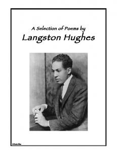 A Selection of Poems by. Langston Hughes. Kevin Bliss