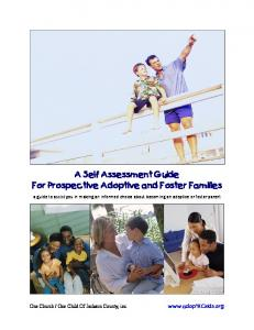 A Self Assessment Guide For Prospective Adoptive and Foster Families