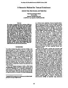 A Semantic Method for Textual Entailment