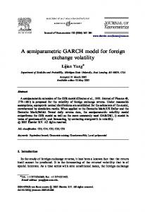 A semiparametric GARCH model for foreign exchange volatility