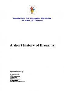 A short history of firearms