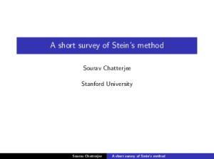 A short survey of Stein s method