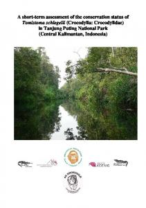 A short-term assessment of the conservation status of Tomistoma schlegelii (Crocodylia: Crocodylidae) in Tanjung Puting National Park (Central
