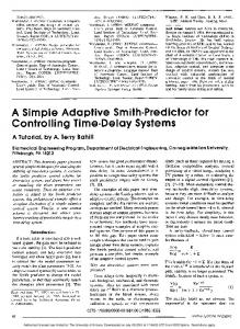A Simple Adaptive Smith-Predictor for Controlling Time-Delay Systems