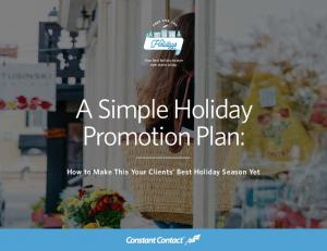 A Simple Holiday Promotion Plan: