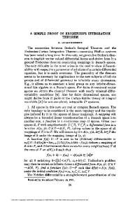 A SIMPLE PROOF OF FROBENIUS'S INTEGRATION THEOREM