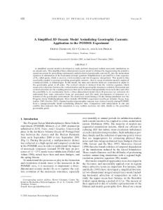 A Simplified 3D Oceanic Model Assimilating Geostrophic Currents: Application to the POMME Experiment