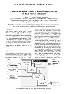 A Simulation-Based Method of Permeability Prediction for RTM Process Simulation