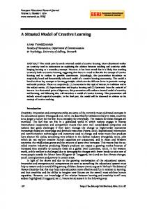 A Situated Model of Creative Learning