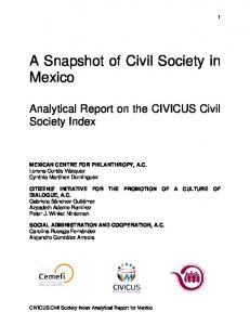 A Snapshot of Civil Society in Mexico