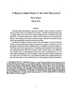 A Sparsity-Based Model of Bounded Rationality