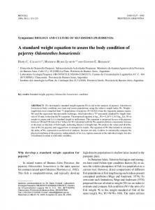 A standard weight equation to assess the body condition of pejerrey Odontesthes bonariensis
