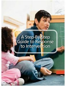 A Step-By-Step Guide to Response to Intervention