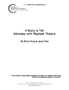 A Story to Tell Advocacy with Playback Theatre