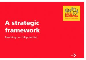 A strategic framework