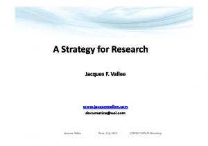A Strategy for Research