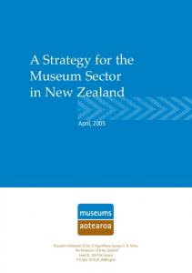 A Strategy for the Museum Sector in New Zealand