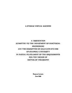 A STREAM VIRTUAL MACHINE