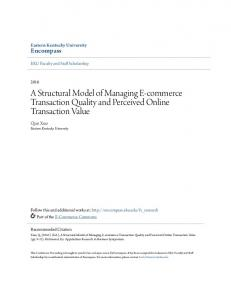 A Structural Model of Managing E-commerce Transaction Quality and Perceived Online Transaction Value