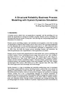 A Structural Reliability Business Process Modelling with System Dynamics Simulation