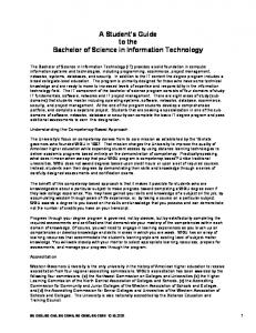 A Student s Guide to the Bachelor of Science in Information Technology
