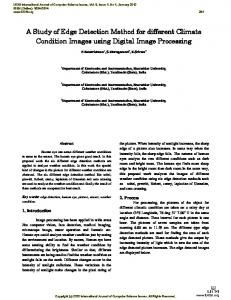 A Study of Edge Detection Method for different Climate Condition Images using Digital Image Processing