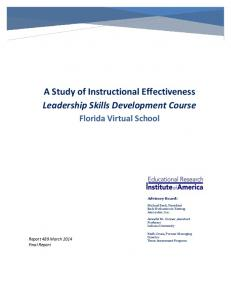 A Study of Instructional Effectiveness Leadership Skills Development Course