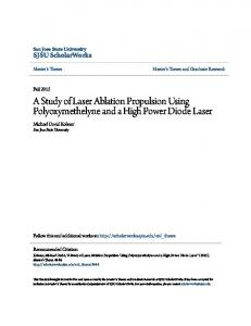 A Study of Laser Ablation Propulsion Using Polyoxymethelyne and a High Power Diode Laser