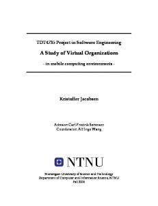 A Study of Virtual Organizations