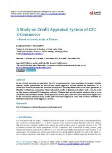 A Study on Credit Appraisal System of C2C E-Commerce