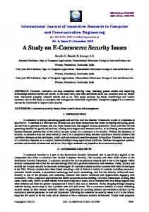 A Study on E-Commerce Security Issues