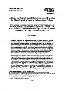 A Study on English Vocabulary Learning Strategies for Non-English Majors in Independent College