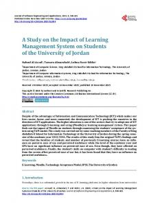 A Study on the Impact of Learning Management System on Students of the University of Jordan