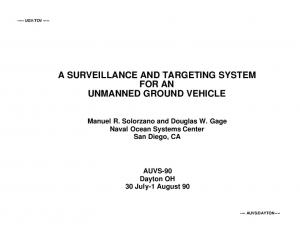 A SURVEILLANCE AND TARGETING SYSTEM FOR AN UNMANNED GROUND VEHICLE