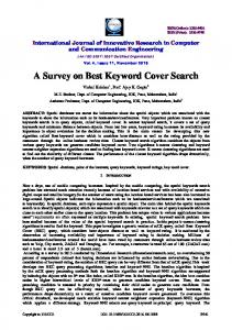 A Survey on Best Keyword Cover Search