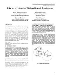 A Survey on Integrated Wireless Network Architectures