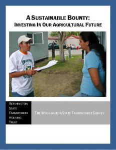 A SUSTAINABLE BOUNTY: INVESTING IN OUR AGRICULTURAL FUTURE