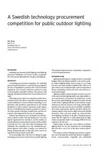 A Swedish technology procurement competition for public outdoor lighting