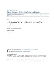 A Systematic Review of Research on Live Chat Service