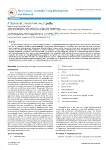 A Systematic Review on Neuropathy