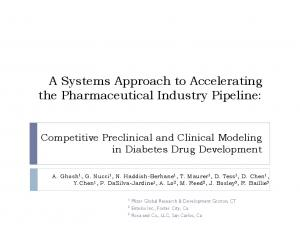 A Systems Approach to Accelerating the Pharmaceutical Industry Pipeline: