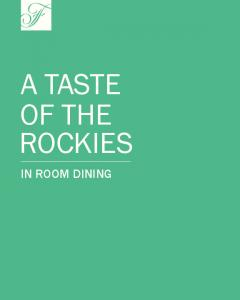 A TASTE OF THE ROCKIES IN ROOM DINING